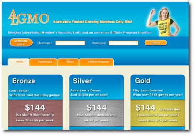 Algmo home page