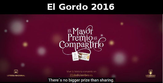 El Gordo 2016 Advert