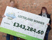 Joe and Sarah EuroMillions winners with LottoLand