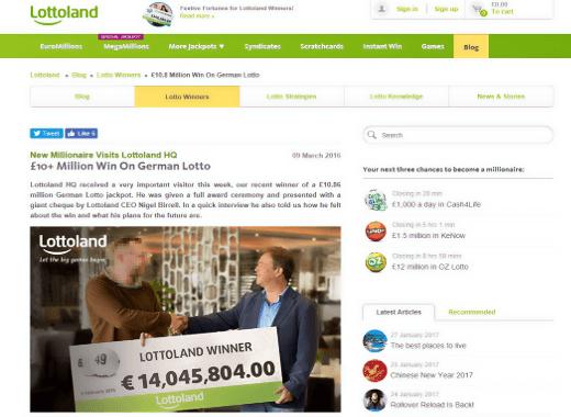 German LottoLand Winner