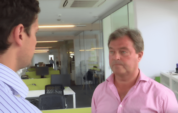 Nigel Birrell CEO of LottoLand interviewed at offices
