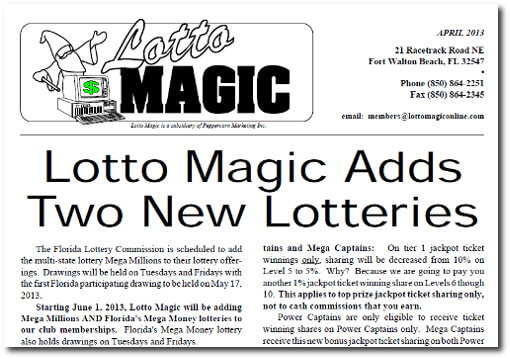 Lotto Magic New Games For Florida