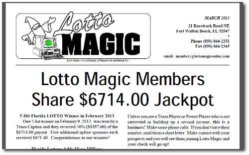 Lotto Magic Winners