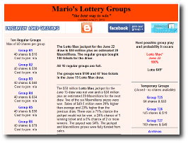 Marios 649 lottery groups