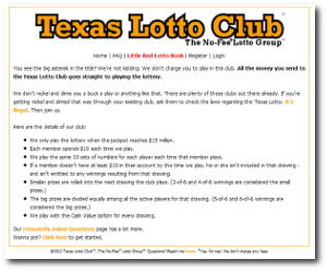 the texas lotto club