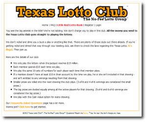 the texas lotto club