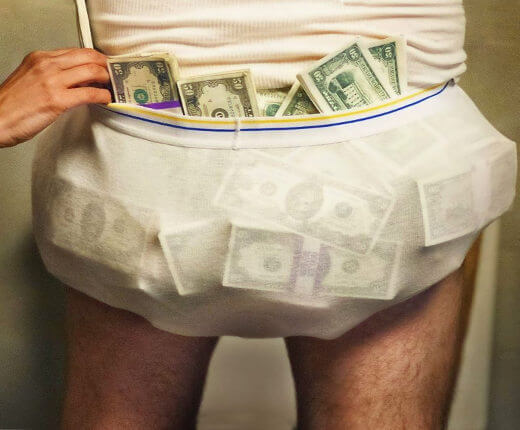 Underwear stuffing jackpot